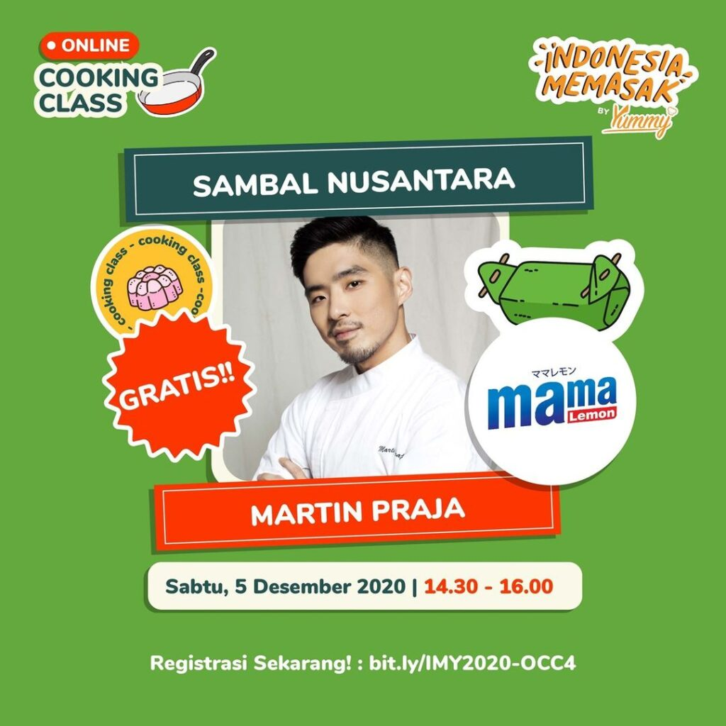 Online Cooking Class Sambal Nusantara bersama Martin Praja