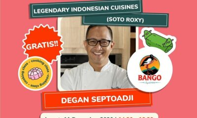 Online Cooking Class Legendary Indonesian Cuisines bersama Degan Septoadji di Indonesia Memasak by Yummy