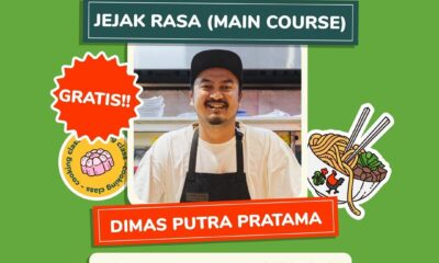 Online Cooking Class Jejak Rasa bersama Dimas Putra Pratama di Indonesia Memasak by Yummy